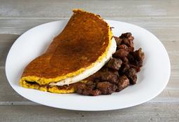 Cachapa con Cochino Frito y Queso