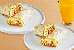 Combo Compartir: 2 Wraps de Pollo y Agua de Frutas