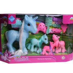 Duende Azul Muñeco Familia de Ponys