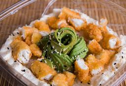 Ensalada de Sushi Salmón Blanco Rebozado