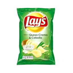 Papas Fritas Lay S Queso Y Cebolla 86 Gr