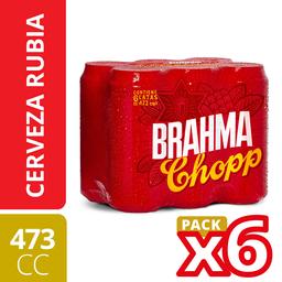 Sixpack Cerveza Brahma Chopp 473 mL