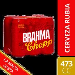 Cerveza Brahma Chopp 473Ml X 6