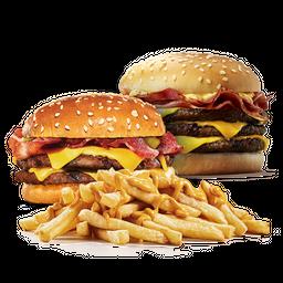 Stacker Triple + Extra Burger + Papas Cheddar