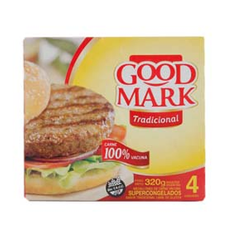 Hamburguesas Good Mark De Carne 354 Gr
