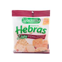 Queso La Serenisima En Hebras 4 Quesos Light 150 Gr