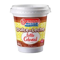 Dulce De Leche La Serenísima Estilo Colonial 400 Gr
