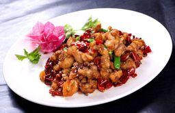 Wok de Pollo Kon Pao Picante