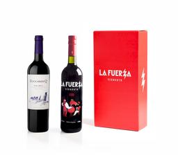 Caja Botella De Vermú La Fuerza + Zuccardi Q Malbec