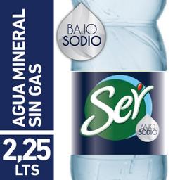 Agua Ser´ Mineral Sin Gas Bajo en Sodio 2,25 L