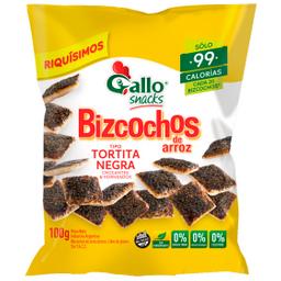 Bizcochos Dulces De Arroz Gallo Tortita Negra 100 Gr