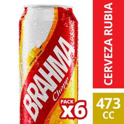 Cerveza Brahma Chopp 473 mL X 6