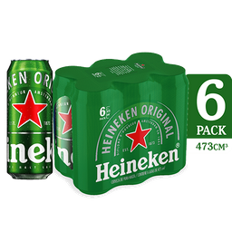 Cerveza Heineken Lata 473 Ml Six Pack