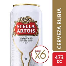 Cerveza Bélgica Stella Artois 473 mL X 6
