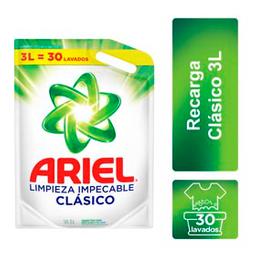 Ariel Clásico Pouch Limpieza Impecable Jabón Líquido 3 L