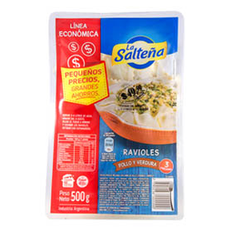 Ravioles La Salteña Pollo Y Verdura 500 Gr