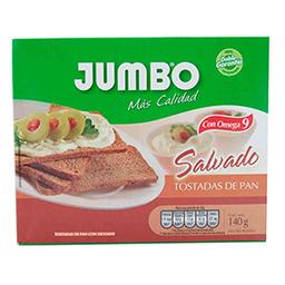 Tostadas Con Salvado Jumbo 140 Gr