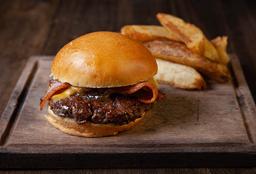 Bacon Burger +  Papas Rústicas + Birra