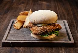 Chicken Sándwich + Papas Rústicas + Birra