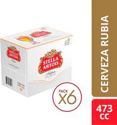 Cerveza Stella Artois 473 mL x 6