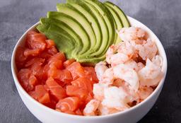 Chirashi Salad Langostino, Salmón & Palta