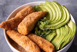 Chirashi Salad Pollo Rebozado, Palta & Verdeo