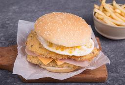 Sándwich Doble Crispy + Papas Fritas