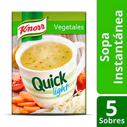 Sopa knorr Quick Vegetales Light 50g