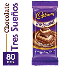 Chocolate Cadbury Tres Sueños 80Grs