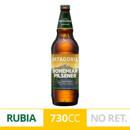 Cerveza Bohemian Pilsener Patagonia Botella 730 ml