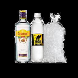Gin Gordons 750Ml + Tónica 1.5L + Hielo 2.5Kg
