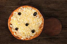 Pizza de Muzzarella, Jamón & Huevo