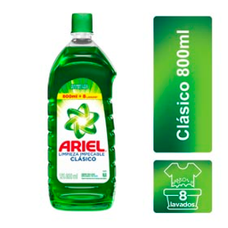 Ariel Clásico Limpieza Impecable Jabón Líquido 800 ml