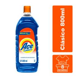 Ace Clásico Jabón Líquido Para Lavar Ropa Blanca Y Color 800ml
