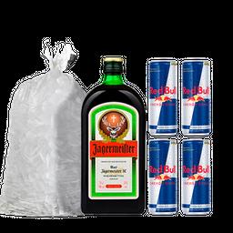 Combo Jagermeister + 4 Red Bull + Bolsa De Hielo 2 Kg