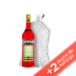 Combo Campari + 2 Jugo Baggio + Bolsa De Hielo 2 Kg
