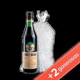 Fernet Branca 750Ml + 2 Coca Coca 2,25 + Bolsa De Hielo 2 Kg