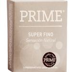 Preservativo Prime Súper Fino Sensación Natural 3 U