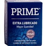 Preservativo Prime Extra Pleausre Lubricado 3 U