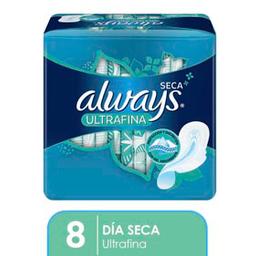 Always Seca Ultrafina Toallas Higiénicas 8 Unidades