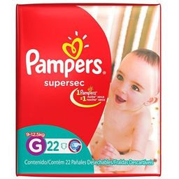 Pampers Panales Descartables Supersec G