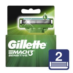 Gillette Mach3 Sensitve Cartuchos Para Afeitar 2 Unidades