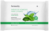 Pañuelos Húmedos Farmcity Aroma a Mentol Para la Nariz 15 U