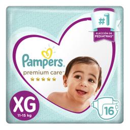 Pampers Premium Care Pañales Desechables XG 16 Unidades