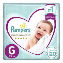 Pampers Premium Care Pañales Desechables G 20 Unidades