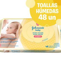 Toallas Húmedas Johnson´S Baby Desde El Primer Día 48 U
