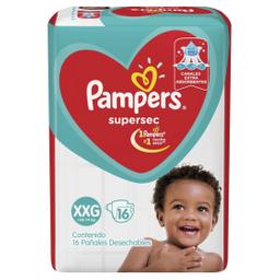 Pañales Pampers Supersec XXG + 14 Kg 16 U