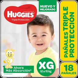 Pañales Huggies Classic xg 18 U