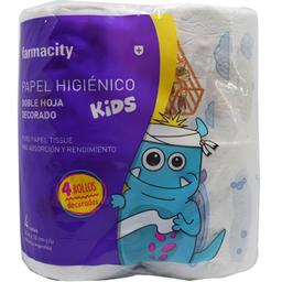 Papel Higienico Fty KidsDoble Hoja Decorado 4X30 Mts