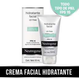 Neutrogena Hidratante Facial Oil Free Fps15 X 50Ml